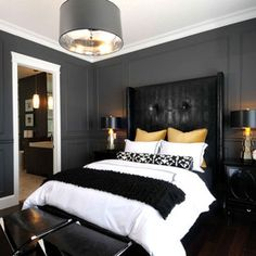 Black Bedroom Ideas Designs And Pictures Clic Inspiration