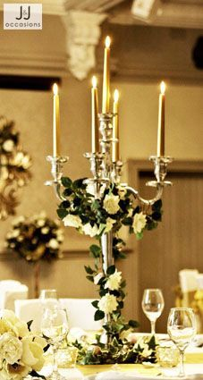Trailing Ivy Decor Around Tall Candelabra From 2000