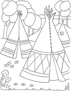 native american coloring pages and coloring on pinterest