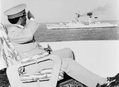 Emperor Haile Selassie of Ethiopia attending Ethiopian Navy day annual celebration at Massawa in 1970 G.C
