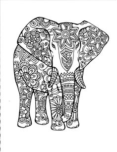 1000 images about â adult colouring elephants zentangles on