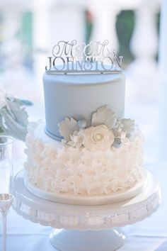Tiered Pale Blue and