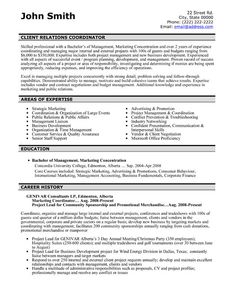 click here to download this client relations coordinator resume