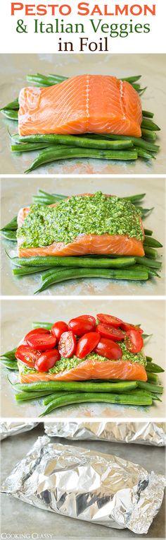 Pesto Salmon and Ita