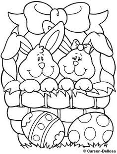 easter coloring pages easter bunny and easter on pinterest