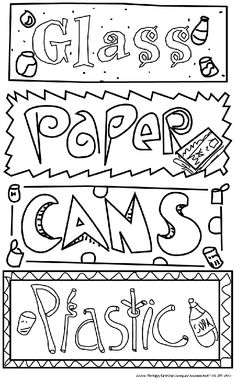 pictures for colouring recycling and colouring pages on pinterest