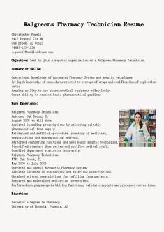resume examples sample resume and pharmacy technician on pinterest