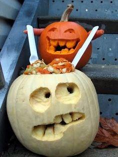 Brain eating pumpkin