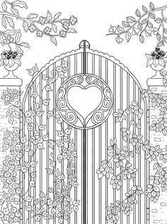 Freebie Garden Gate Coloring Page Craft Gossip Bloglovin