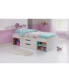 Shelby Single Cabin Bed Frame White At Argos Co Uk Your