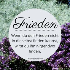 #Frieden in dir selb
