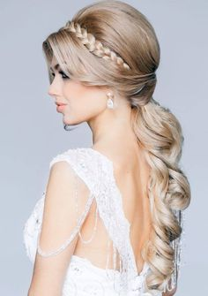 1000 images about bridal hairstyles on pinterest straight ponytail elegant bride and