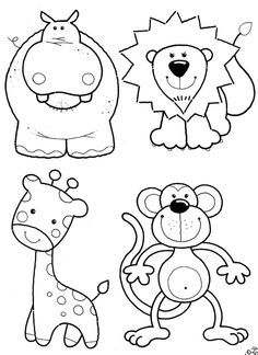 jungle animals animal coloring pages and jungles on pinterest