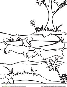 dachshund coloring pages and puppys on pinterest