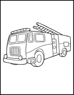 fire trucks coloring pages and trucks on pinterest