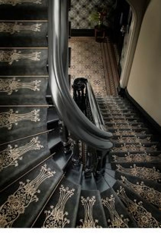 Art Deco stair runner