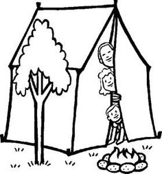 tent camping coloring pages and tent on pinterest