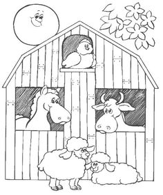 big red barn coloring pages barn animals colouring pages more