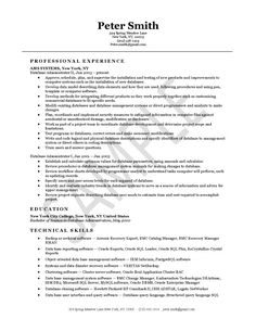 oracle dba resume format database administrator resume example