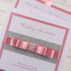 Expensive Wedding Invitation For You Pink Silver