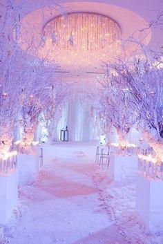 Extravagant White Indoor Wedding Ceremony | Beautiful ...