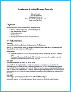 resume get the job and architects on pinterest