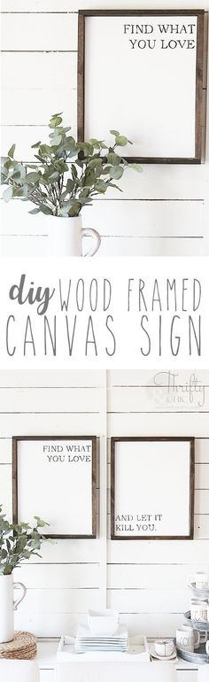 DIY framed canvas qu