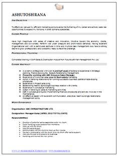 marketing resume resume and resume templates on pinterest