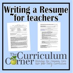resume teacher resumes and teaching on pinterest