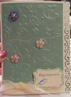 1000 Images About Cards Embossed Birds Amp Swirls On
