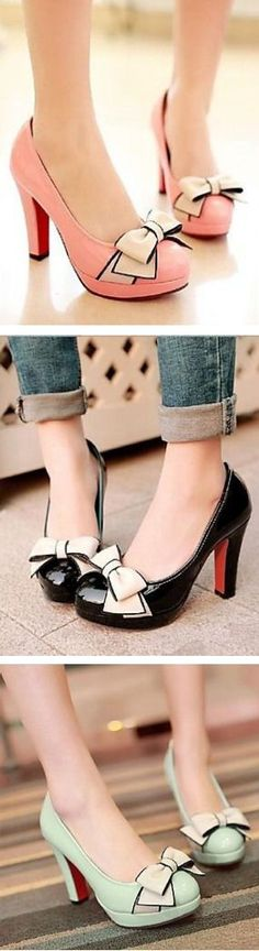 Cute Bow Knot Pumps