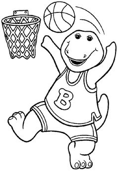 barney birthday coloring and coloring pages on pinterest