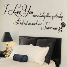 Wall Stickers For Living Room Love You Quote Sticker Mural Bedroom Gift
