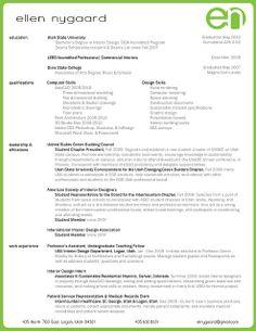 interior design resume template interior design resume design
