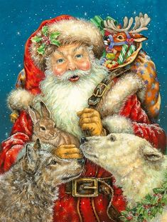 Here Comes Santa Claus On Pinterest Vintage Santas
