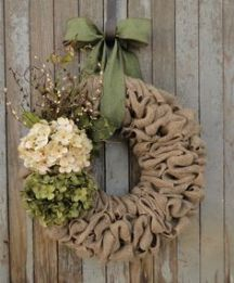 Springtime Burlap Wreath