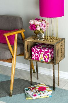 Wood Crate Handmade Table Great Idea So My Husband Can