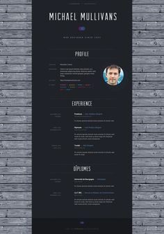 great cv layout simple clean design michael mullivans web
