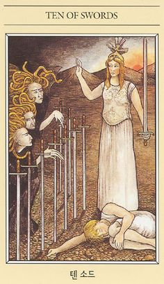 The Mythic Tarot - Tien Van Zwaarden