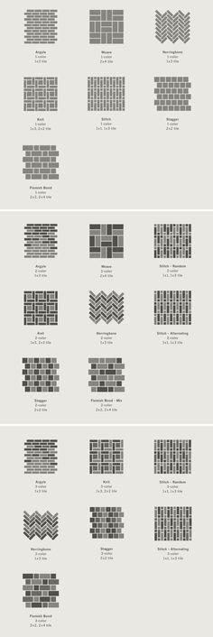 Tile patterns. #Hot_