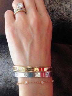 VCA Perlee Amp Cartier Love Bracelet Stack PurseForum