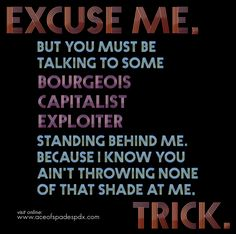 Excuse me, Trick – a