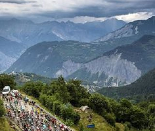 Instagram Bicyclingmag The Peloton Yesterday Climbing La Toussuire Todays Penultimate Stage Is Underway