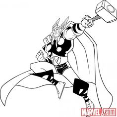 thor coloring pages and coloring on pinterest