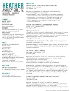 resume creative and marketing on pinterest
