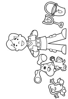 blues clues coloring pages and coloring on pinterest