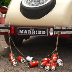 1000 Images About Wedding Getaway Car Decor On