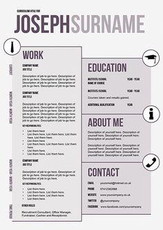 unique cv templates creative resume cv template to resume