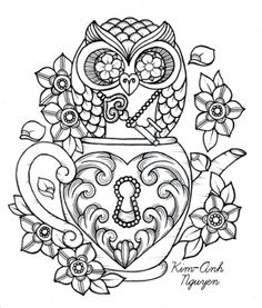 1000 images about art owls on pinterest owl coloring pages owl