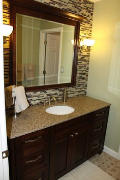 1000 Images About Tile Work Behind Bathroom Mirror On